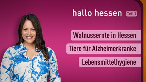 """Leonie Koch und die Themen bei """"hallo hessen"""" am 21. September: Walnussernte in Hessen, Tiere für Alzheimerkranke, Lebensmittelhygiene"""
