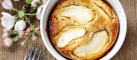 Rahm-Birnen-Kuchen