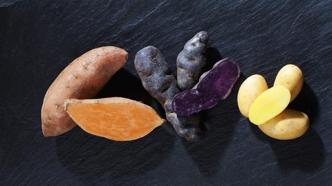 Bunte Kartoffeln