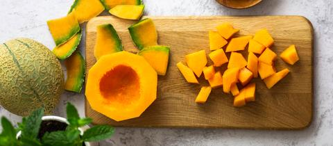 Geschnittene Cantaloupe-Melone