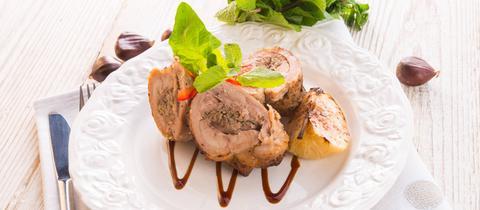 Hühnerbrust gefüllt mit Maroni