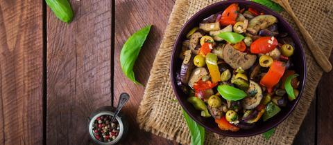 Antipasti Salat Ratatouille Symbolbild