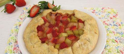 Erdbeer-Rhabarber-Tarte