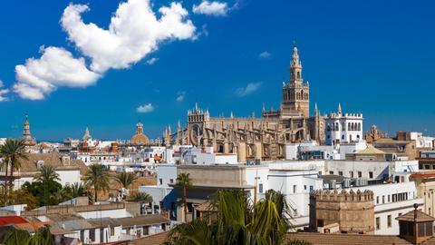 Blick auf Sevilla