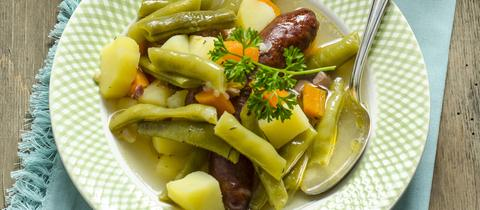 Sujet grüne Bohnensuppe