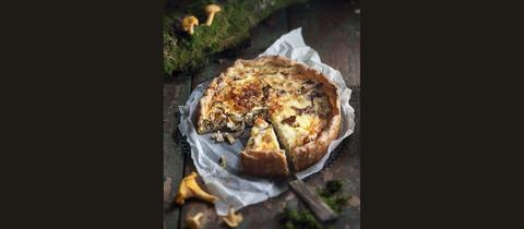 Tarte mit Pilzen