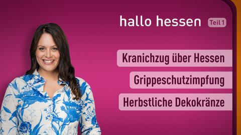 """Leonie Koch und die Themen bei """"halo hessen"""" am 13. Oktober: Kranichzug über Hessen, Grippeschutzimpfung, Herbstliche Dekokränze"""
