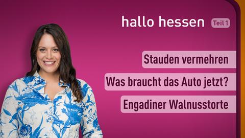 Moderatorin Leonie Koch sowie die Themen: Stauden vermehren, Was braucht das Auto jetzt?, Engadiner Walnusstorte