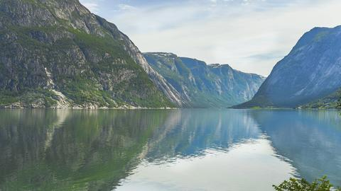 Der Hardangerfjord.