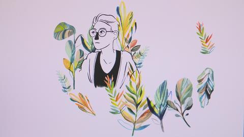 Eva Feuchter, gezeichnet