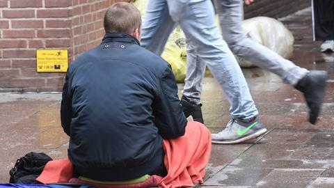 Obdachloser - Soziale Schere
