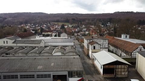 Fabrikgelände von oben