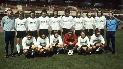 Eintracht Frankfurt Mannschaftsfoto 1973 / 1974