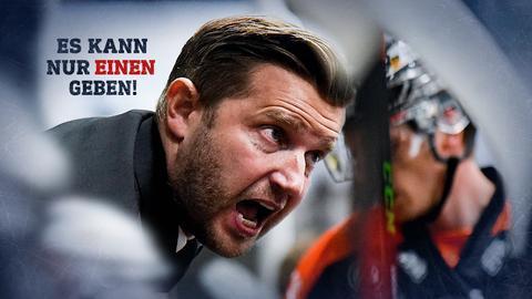 Löwen-Trainer Franz-David Fritzmeier pusht seine Spieler vom Spielfeldrand.