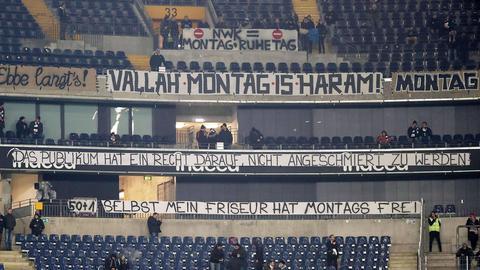 Protest der Eintracht-Fans gegen Montags-Spiele