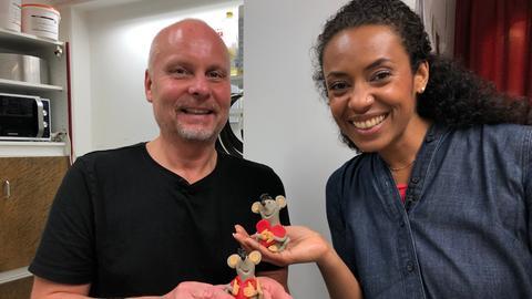 Marzipan-Künstler und Konditor Bernd Lembach und Anne Chebu