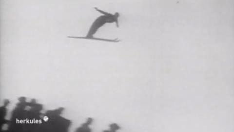 Damals: Skisprung