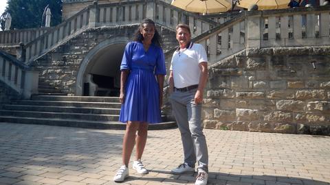 Anne Chebu mit Gerold Schwarz, Geschäftsführer Schlosshotel Wolfsbrunnen