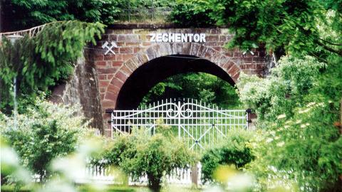 Blick auf das Zechentor in Frielendorf.