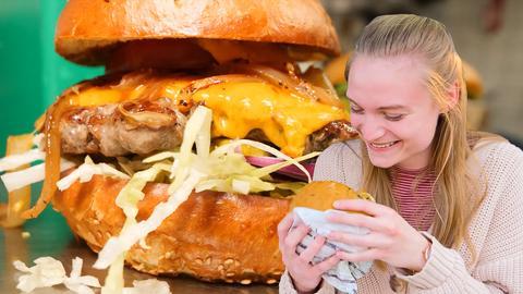 Hmm, lecker: Burger