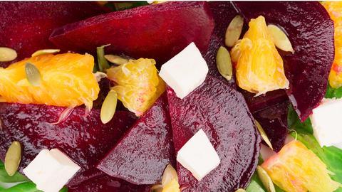 Rote Beete - Salat mit Orangen
