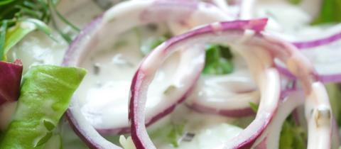 Grüner Salat mit Schmand-Dressing.