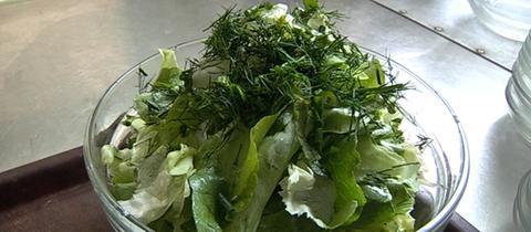 Kopfsalat mit Omas Salatsoße