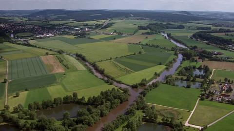 Hessen von oben- Über Eder und Edersee