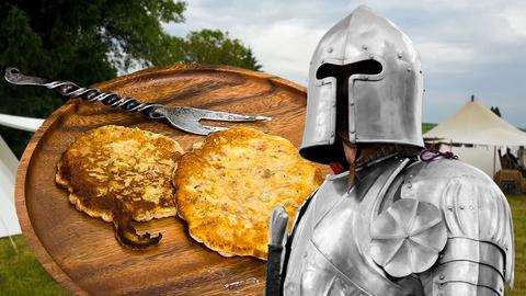 Ritter auf Mittelalterfest