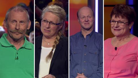 Die Kandidaten (v.l.): Klaus aus Wettenberg, Elke aus Groß-Zimmern,  Rainer aus Rosbach und Ulla aus Hochheim.
