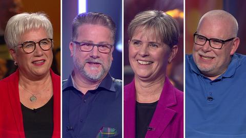 Die Kandidaten (v.l.): Christa aus Rodgau, Markus aus Stuttgart, Doris aus Groß-Gerau und Thorsten aus Schöneck.