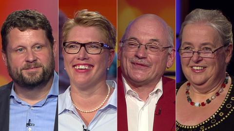 Das Rateteam (v.li.): Martin aus Knüllwald, Kerstin aus Wiesbaden, Thorsten aus Rodgau, Inge aus Pohlheim