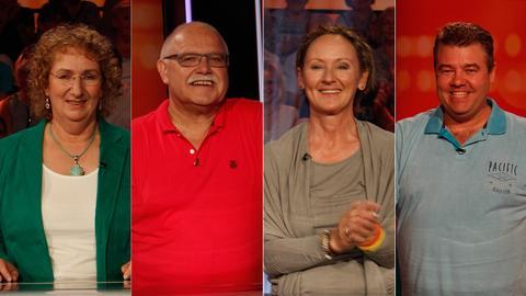 Die Kandidaten (v.li.): Ulrike aus Frankfurt, Alois aus Holzheim, Myriam aus Marburg, Alexander aus Lautertal