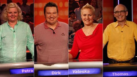 Das Rateteam (v.li.): Petra aus Frankfurt, Dirk aus Ronneburg, Valeska aus Erlensee und Thomas aus Nauheim