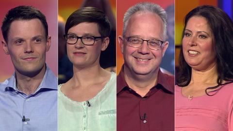 Das Rateteam (v.li.): Florian aus Mörfelden-Walldorf, Natascha aus Rosenthal, Günther aus Lauterbach und Frauke aus Rodgau