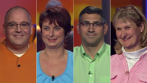 Die Kandidaten (v.li.): Herbert aus Nidderau, Sabine aus Edelsberg, Carsten aus Egelsbach und Iris aus Fulda