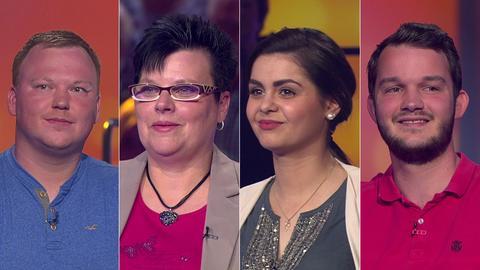 Die Kandidaten (v.li.): Christopher aus Herborn, Gabriele aus Lichtenau, Vanessa aus Rüsselsheim und Jannik aus Vellmar