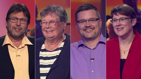 Die Kandidaten (v.li.): Peter aus Laubach, Petra aus Frankfurt, Andreas aus Liederbach, Simone aus Breuberg