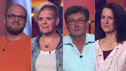 Die Kandidaten (v.li.): Markus aus Bad Nauheim-Steinfurth, Beatrice aus Hünstetten, Richard aus Gross-Rohrheim und Marion aus Vöhl-Ederbringhausen