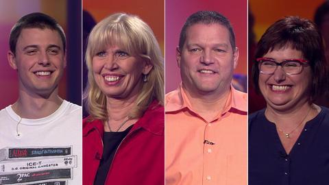 Die Kandidaten (v.li.): Leon aus Hanau, Claudia aus Fritzlar, Jürgen aus Büttelborn und Anke aus Ebersdorfergrund