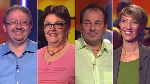 Die Kandidaten (v.li.): Antje aus Kassel, Udo aus Groß-Zimmern, Margit aus Idstein und Wolfgang aus Neu-Anspach