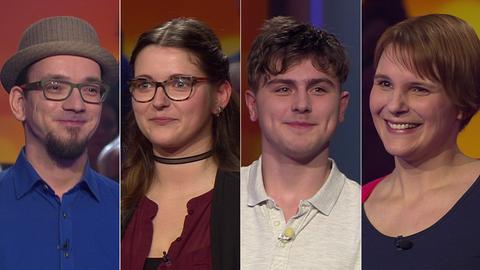 Die Kandidaten (v.li.): Christian aus Oberursel, Miriam aus Nauheim, Ben-Joshua aus Niestetal und Carolina aus Glauburg