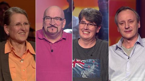 Die Kandidaten (v.li.): Regina aus Frankfurt, Martin aus Bad Salzschlirf, Britta aus Villmar und Herbert aus Biebertal-Königsberg