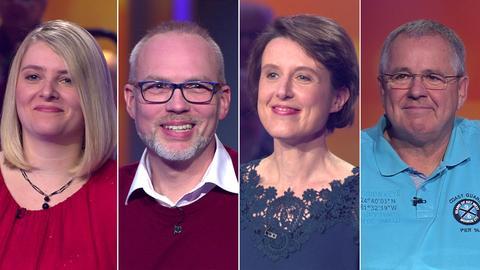 Die Kandidaten (v.li.): Sabrina aus Freigericht, Olaf aus Bad Arolsen, Jutta aus Langen und Hermann aus Driedorf