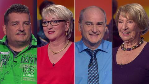 Die Kandidaten (v.li.): Guido aus Lohra, Karin aus Maintal, Michael aus Schwalmstadt und Marita aus Erzhausen