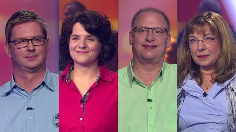 Die Kandidaten (v.li.): Ullrich aus Edermünde, Tina aus Großbieberau, Thomas aus Butzbach und Angela aus Frankfurt