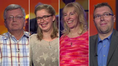 Hessenquiz Folge 2301 Holger Kintscher, Julia Walloschek, Susanne Apfelbaum, Christian Pfeil