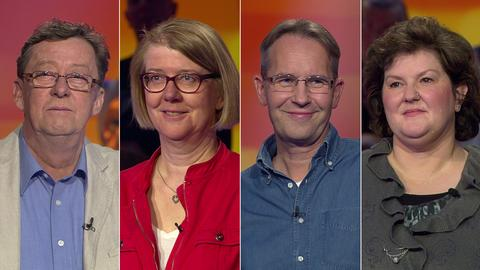 Die Kandidaten (v.li.): Peter aus Frankfurt, Renate aus Witzenhausen, Willi aus Rodgau und Martina aus Löhnberg