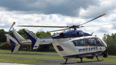 Hubschrauber der Polizeifliegerstaffel Egelsbach