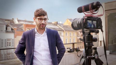 Bijan Kaffenberger dreht ein Video